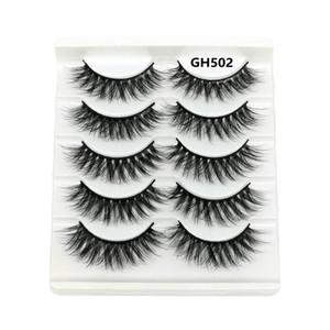 5 pairs 5D Mink Eyelashes Natural False Eyelashes Lashes Soft Fake Extension Makeup Tools Mink Lashes Make Up