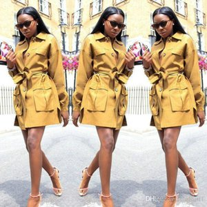 with Sashes Women Clothing Women Designer Trench Coats Fashion Single Breasted Lapel Neck Loose Trench Coat
