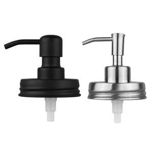 Tapa dispensadora de jabón Loción de acero inoxidable Loción del dispensador de la bomba de reemplazo para el baño de masón Baño Accesorios de cocina con tubo extra GWD3700