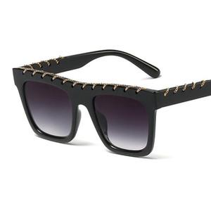 Super Large Futuristic Oversize Shield Visor Sunglasses Flat Top Mirrored Mono Lens Fashion Lady Metal Frame Sunglasses FML