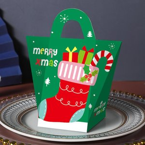 Santa Claus Merry Christmas Candy Gift Boxes Guests Packaging Boxes Gift Bag Christmas Party Favors Kids Gift Decor HWD3344