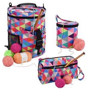Rainbow Color Yarn Storage Knitting Yarn Bag Tote Bag Big Capacity Organizer For Weave Tools Crochet Accessories Storage