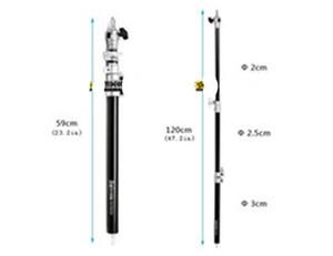 """Freeshipping Photographic Sep-1200A 120cm / 48 """"Tubo de poste de extensión acolchada de aire para soporte ligero Accesorio de estudio"""
