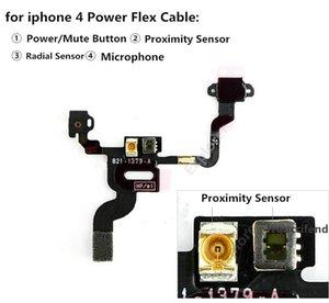 IPhone 4 5 5G 5C 5 S 6 Anahtarı Güç Düğmesi Flex Kablo Kapalı Şerit Dilsiz Anahtarı Ses Düğmesi Değiştirme 1 adet