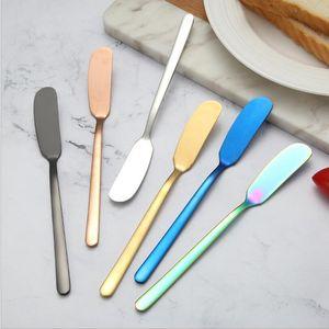 Нож для сливочного ножа 304 нержавеющая сталь нож нож джем торт нож джем, масло западная посуда торт шпатель дома кухонные принадлежности EWC4065