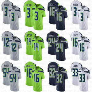14 DK Metcalf 3 Russell Wilson 16 Tyler Lockett 33 Jamal Adams 24 Marshawn Lynch 32 Chris Carson 54 Bobby Wagner SeatleSeawk Jersey