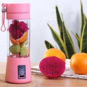 400ml 6 Blades Mini Portable USB Rechargeable Electric Fruit Juicer Smoothie Maker Blender Machine Food Juicing Cup Bottle Y1201