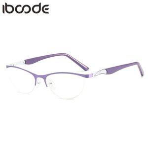 Ibooo Anti Mavi Ray Gözlük Yarım Çerçeve Kadın Kedi Göz Temizle Lens Gözlük Gözlük Kadın Bilgisayar Oyun Gözlüğü Gözlük 2021