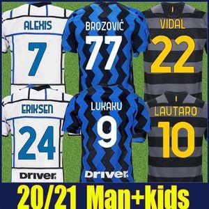2020 The Nerazzurri Inter Eriksen Lukaku Soccer Jersey Alexis Lautaro Football Jersey Homme Kit Enfants Kit Hakimi Brozovic Vidal Soccer Shirts 20/21