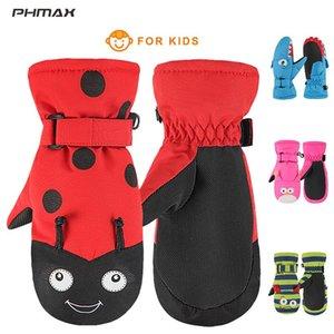 PHMAX Toddler Ski Gloves Children Winter Waterproof Warmer Snow Gloves Boys Girls Andi-Slip Skating Hiking Camping