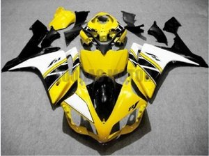 Injection Fairings for YELLOW blk white YAMAHA YZF R1 2007-2008 Yamaha YZF 1000 07 08 YZF1000 2007 2008 body kits yzf r1 07 08 ABS bodywork