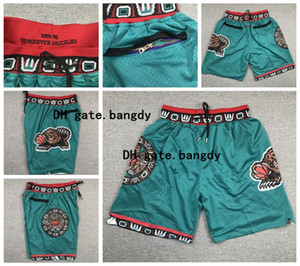 Pockets Just Don MenMemphisGrizzlies Ja 12 Morant City Vintage Mike Bibby Vancouver Mesh Breathable Classic Gym Basketball Shorts