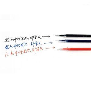 10Pcs 0.38mm Gel Ink Ballpoint Pen Refill Black Blue Red Stationery Supply1