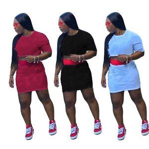 Champions Women brand plus size 2 piece dress fall winter clothes jogger tee top evening skirt sports set t-shirt beachwear outfits 0568
