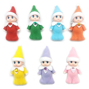 Free shipping Christmas Toy Baby Elf Doll in dress in blanket with Feet Baby Elves Dolls with Movable Arms and Legs Baby Elf Toys Doll