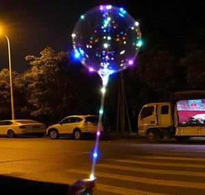 Led Balloon Transparent Lighting Bobo Ball Balloons With 70cm Pole String Balloon Xmas Wedding Party Decorations Cca wmtqkC jjxh