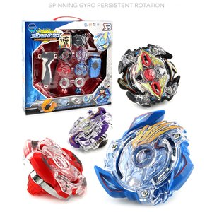 4pcs Beyblade Metal Funsion 4D With Launcnher And Handle Spinning Top BB807D Beyblade Set With Original Box Y1130