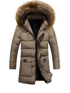Winter Parkas Men Cotton Padded Coat Long Thick Warm Casual Winter Jacket Men With Raccoon Dog Fur collar Jackets