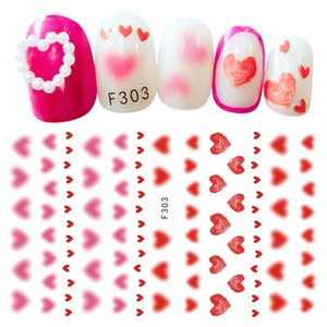 1PC Sexy Valentine Decals Back Glue Nail Transfer 3D Stickers Flowers Rose Red Lips Sliders Adhesive Decoration
