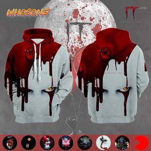Horrorfilm IT: Kapitel Zwei WHOSONG 2019 3D Hoodie Mann Bloodiness Panic Jacket Ong Sleeve Bluse1