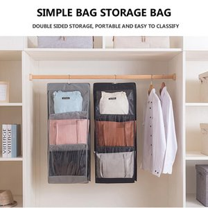 Hanging Handbag Organizer for Wardrobe Closet Transparent Storage Bag Door Wall Clear Sundry Shoe Bag Hanger Household Artifact