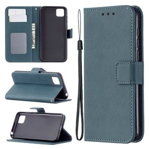 Litchi Simple Wallet Leather Case For Iphone 12 Mini Huawei Honor 9 Lite 9X Y5P Y6P Y8S P Smart 2021 Mate 40 Retro Strap Photo Stand Cover