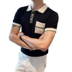 High Quality Slim Fit Shirt Men Short Sleeve Casual Breathable Homme Streetwear Fashion Men Shirt Knitting