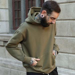 2021 Spring Men Sweater Tamaño Silueta Drop Hombro Camello Sudadera con capucha Ienbel Chaqueta