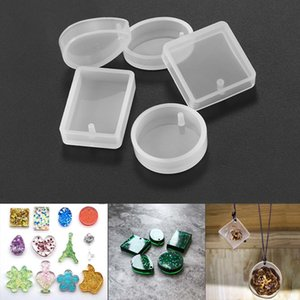 5 Pieces pack Mixed Size Epoxy Resin Silicone Mold Square Round Handmade Gem Pendant Craft Tool Diy Jewelry Making Finding sqcGFK bdenet
