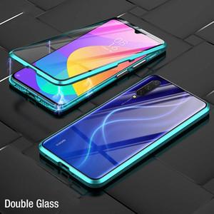 Absorción magnética de lujo Vidrio templado de doble cara para Xiaomi MI 9 MI9 SE Metal Teléfono Funda Back Cover XIAOMI9 MI9SE H JLLLKAR