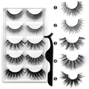 Free Shipping Wholesale Mix G601 3D Faux Mink Hair Lashes 3D Mink Natural Eyelashes Long Thick Silk Eyelashes With Packaging