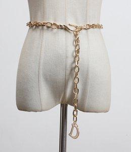 Magazine de moda estilo de la cintura de la cintura D de la cintura de la cadena de la cintura de la cintura de cobre de la cintura del metal de la cintura del metal delgada