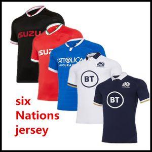 2020 2021 Six Nations Italia Scozia Irlanda Rugby Jersey Casa Away Shirt IRLANDA IRLANDIA ITALY RUGBY JERSERYS Casual Sports Rugby Polo 5XL