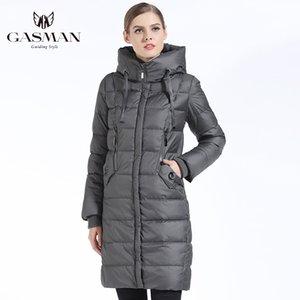 GASMAN Thick Women Bio Down Jacket Brand Long Winter Coat Women Hooded Warm Parka Fashion Jacket New Female Collection 1827 201119