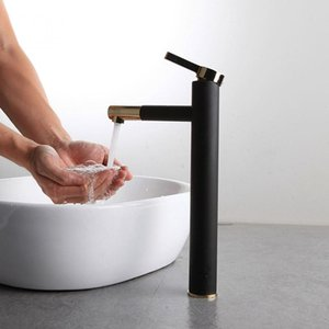 Free Shipping Fashion Brass White Black Baking Bathroom Faucet Bath Vessel Sink Basin Mixer Tap Cold Hot Water Tap Single Handle