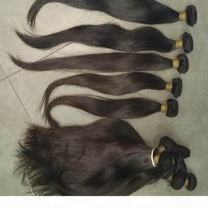 Cheap unprocessed Virgin straight Cambodian hair wefts 3pcs mix lengths holiday promotion nice vendor 8A natural colors