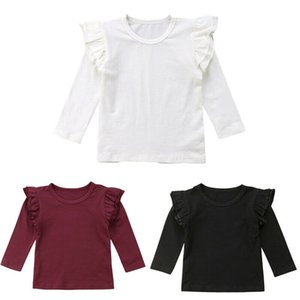 Toddler Kids Baby Girls Long Sleeve Tops Casual Solid Blouse Shirt Tee Spring Autumn Clothes 6M-5T