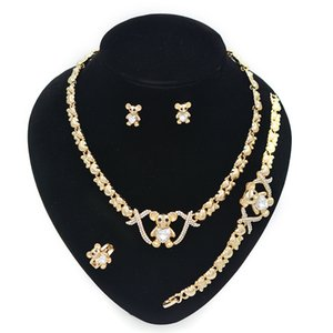 2021 NEW 14K gold plated jewelry sets for women wedding Necklaces charm bracelet earrings girls