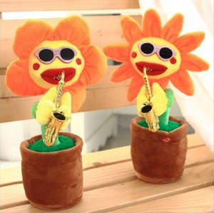Electric Sunflowers Toy Bluetooth Connection Musical Enchanting simulation Flower Dancing Singing Toys Party Noise Maker GWE4701