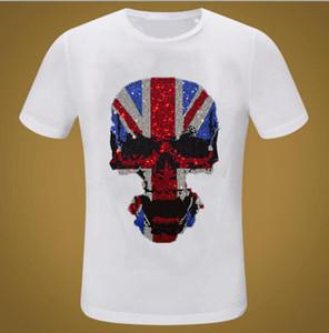 Marca Streetwear Ganbu Diamanti Estate Hip Hop T-shirt allentati Uomo Moda casual T-shirt nera Top Zp5F