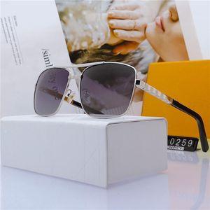 Lunettes de soleil de haute qualité hommes métal classique vintage femmes lunettes de soleil une pièce lunettes femelle conduite lunetier oculos de sol masculino dans la boîte