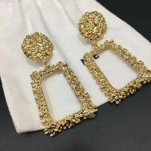 Hot Selling Explosion Plated Square Pendant Fashion Designer Earring luxury designer jewelry women earrings