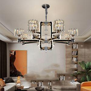 Новый свет роскошная хрустальная люстра модная акриловая лампа рука света подвеска света гостиная спальня обеденные подвесные светильники