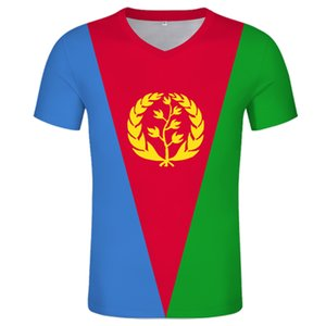 Eritrea Flag T-shirt Mens T-shirt short-sleeved T-shirt Free custom name number The State of Eritrea jersey sweatshirt