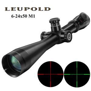 Leupold Mark 4 6-24x50 M1 Тактическая охотничья оптика Объем Красного и зеленого точечного волокна сетки с длинным рельефным винтовкой для глаз
