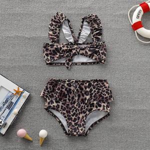 2020 New Wear Ins Baby Leopard Children's Swimsuit Set