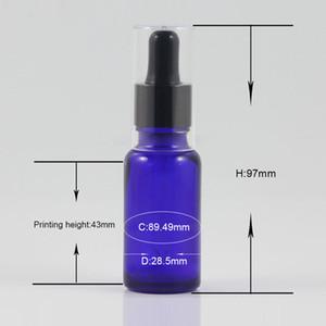 Empty beard oil bottle 20ml Blue Glass Aromatherapy Liquid Pipette Bottle Refillable Bottles