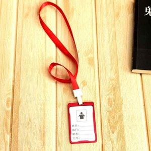 Luxury quality Leather material double card sleeve ID Badge Case Clear Bank Credit Card Badge Holder Accessories