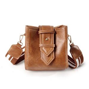 women 2021 new fashion Korean versatile messenger small winter single wide shoulder belt bucket women's Bag