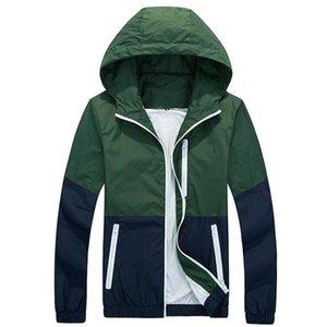 Hot Men's Windbreakers Jacket Men Hoodie Coats 2020 Stylish Fashion Men Women Hooded Thin Windbreaker Zipper Coat Outwear Fit